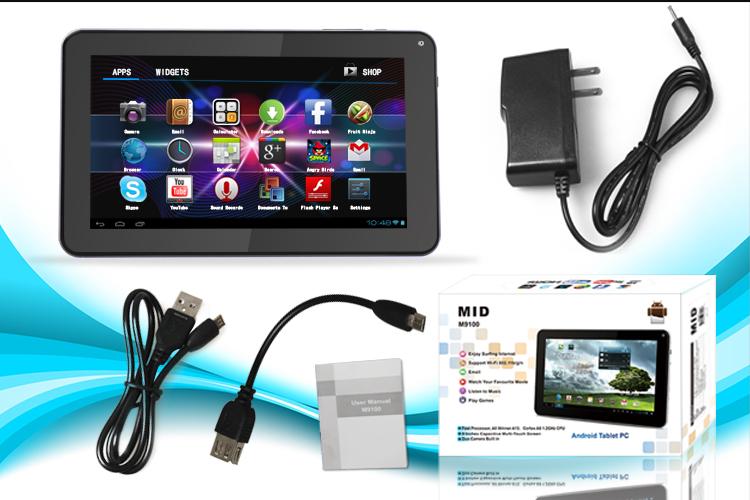 "Detalles de KOCASO M9100 9"" inch Tablet PC Android 4.0 8GB 1.2GHz Dual"