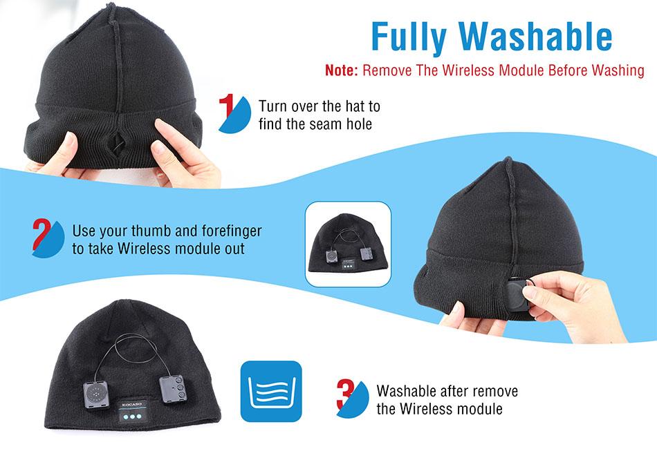 Wireless Music Warm Beanie Hat Smart Cap Headset Headphone Speaker Mic