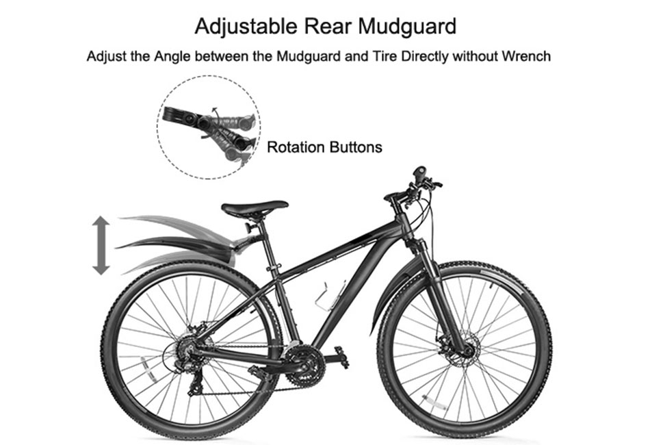 2x Bicycle Mudguard Mountain Bike Fenders Mudguards Wing Cycling Accessories USA