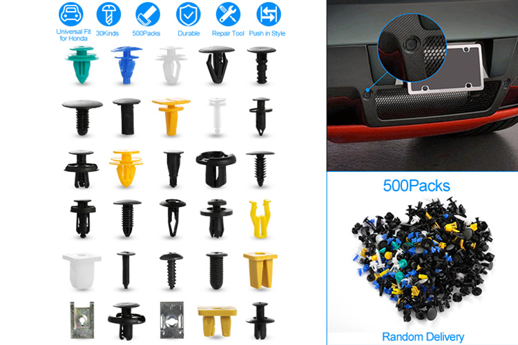500pcs//set Universal Mixed Car Various Plastic Rivet Fastener Door Push PinTRFR