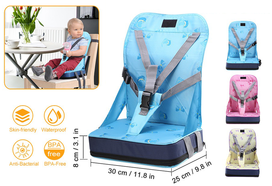 Swell Details About Portable Baby Kids Toddler Feeding High Chair Booster Seat Cover Harness Cushion Andrewgaddart Wooden Chair Designs For Living Room Andrewgaddartcom