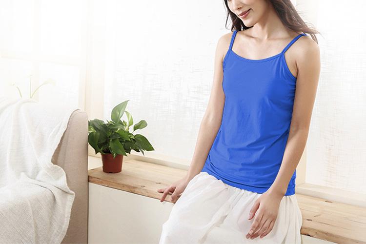 12Pcs//Lot Women Adjustable Spaghetti Strap Stretch Cotton Long Cami Tank Top S~L