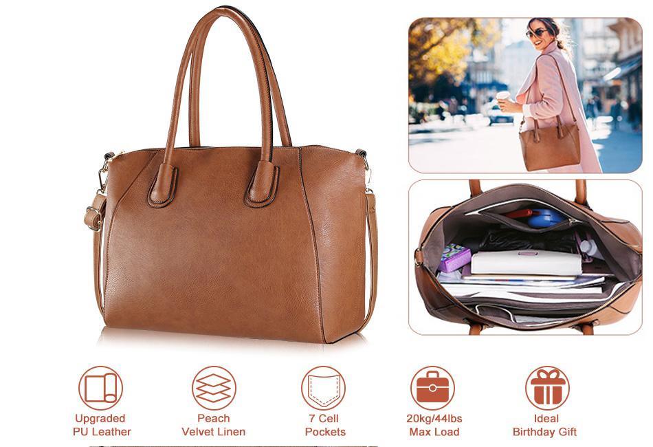 bc31cb3ae4 Details about New Women Handbag Shoulder Bags Tote Purse PU Leather  Messenger Hobo Bag Satchel