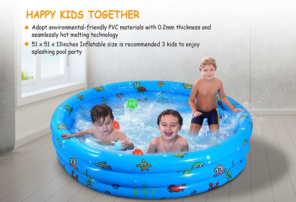 Details zu Summer Inflatable Kids Swimming Pool Swim Center Water Fun Play  130 x 33cm New