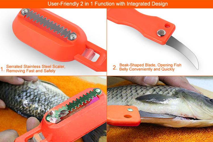 Stainless Steel Fish Skin Brush Fish Scale Remover Cleaning Peeler ...