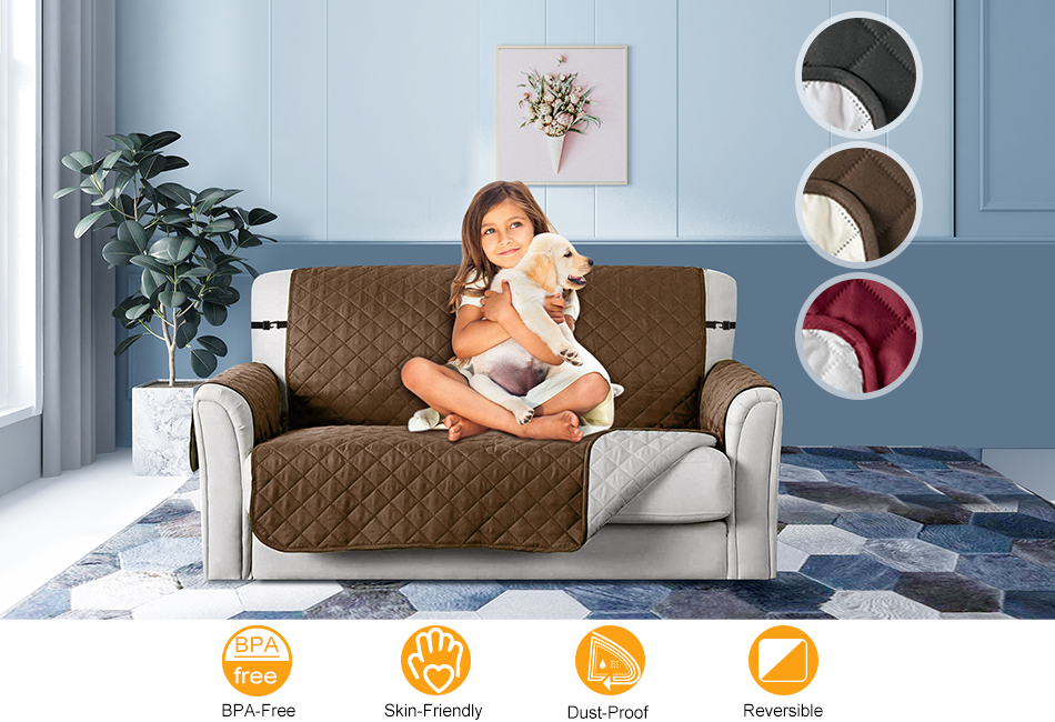 Reversible Sofa Couch Cover 1 2 3 Seater Pet Dog Kids Mat