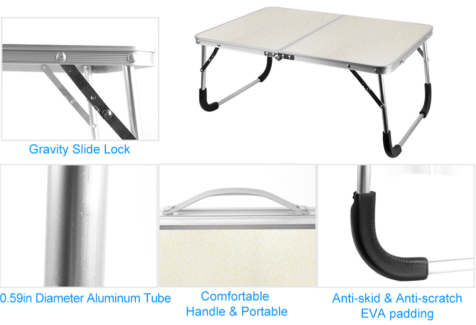Adjustable Laptop Notebook Table Desk Standing Bed Sofa Tray Lap PC Stand Holder