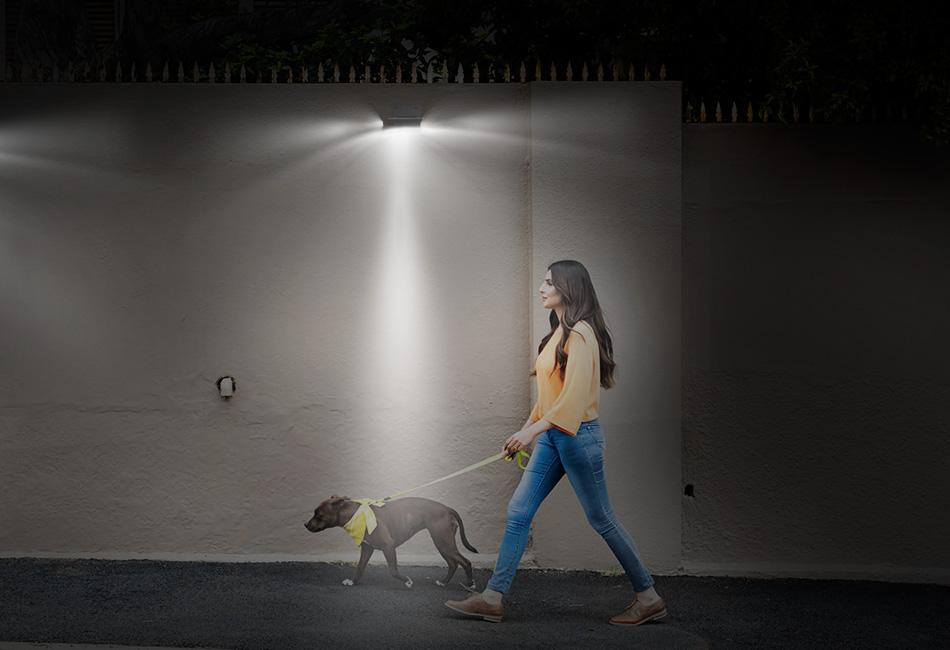 Solar Power Motion Sensor Garden Security Lamp 16 Led
